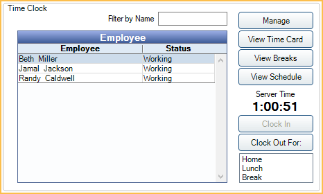 timecard with lunch breaks